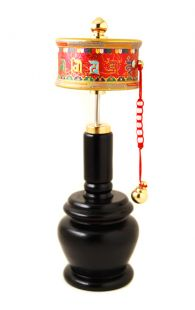 Hand-spinned Prayer Wheel (L)