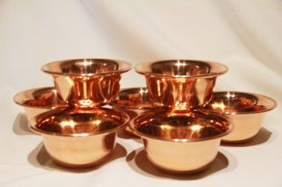 Offering bowls Copper (M) 7pcs a set.
