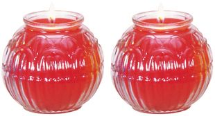 24H Ghee Oil candle (S) lotus shape, a pair. (R)