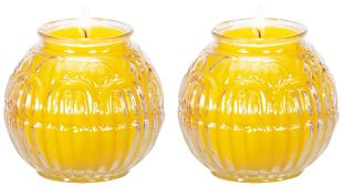24H Ghee Oil candle (S) lotus shape, a pair. (Y)