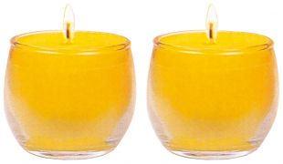 20H Ghee Oil candle (S) cup shape, a pair. (Y)